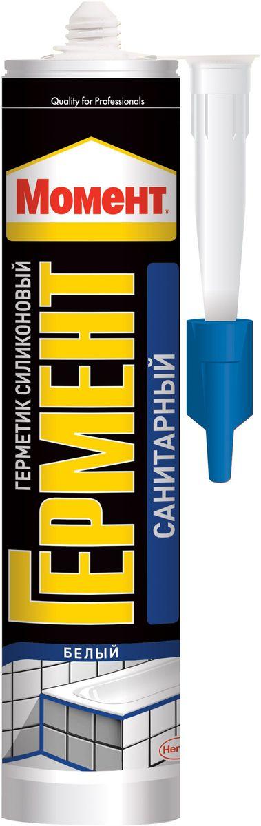 Герметик силиконовый Момент Гермент, санитарный, 280 мл герметик силиконовый ремонт на 100% универсальный цвет прозрачный 260 мл