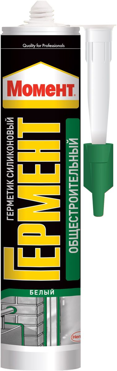 Герметик силиконовый Момент Гермент, нейтральный, общестроительный, 280 мл герметик силиконовый ремонт на 100% универсальный цвет прозрачный 260 мл