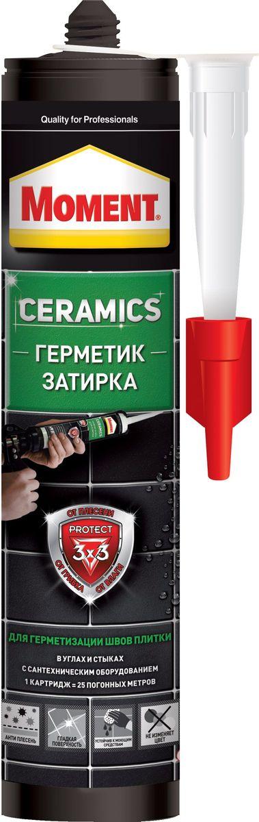 цена на Герметик-затирка Момент Ceramics, цвет: темно-коричневый, 280 мл