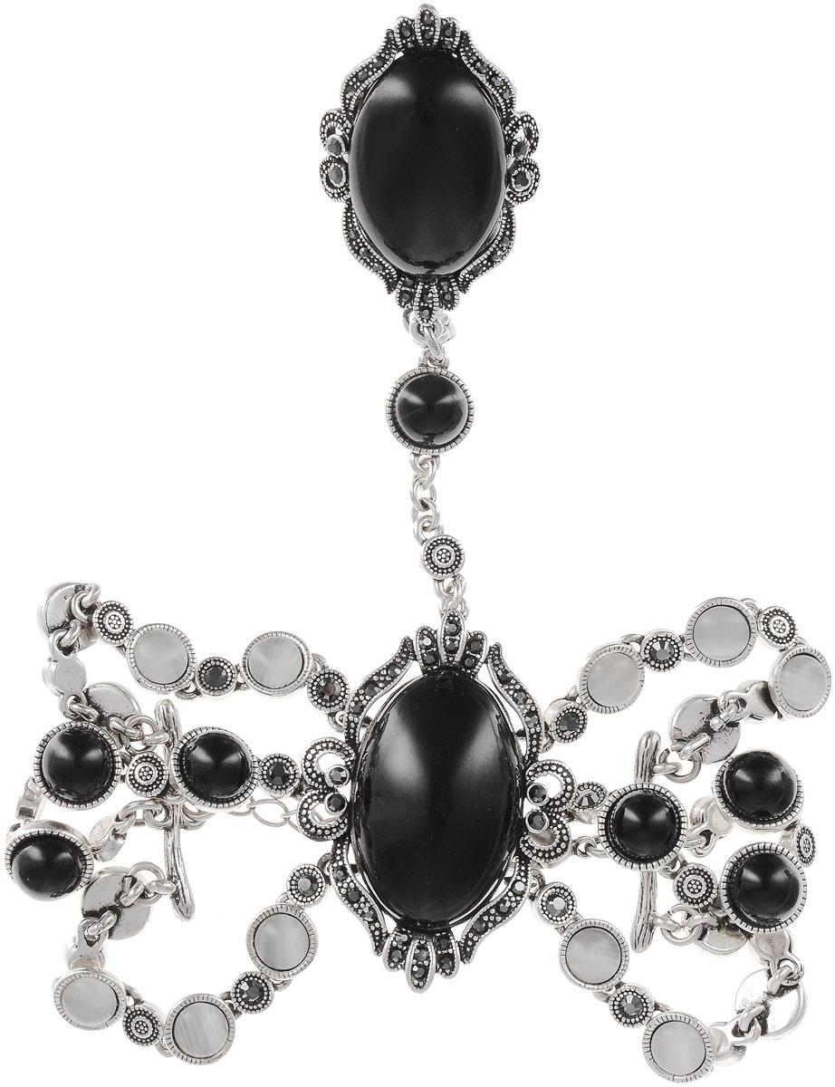 Комплект украшений женский Art-Silver, цвет: серебряный. 065588-002-2873. Размер 16,5 серьги art silver цвет серебряный 27958 577