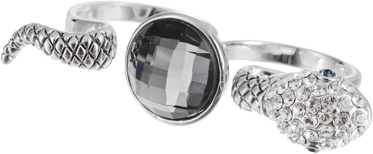 Кольцо на два пальца Art-Silver, цвет: серебряный. 02028-2-1067. Размер 18 серьги art silver цвет серебряный 27958 577
