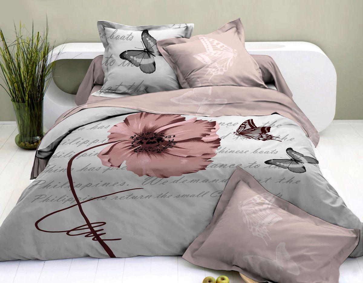 Комплект белья Коллекция Виолетта, 1,5-спальный, наволочки 50x70. СР1,5/50/ОЗ/вио комплект белья коллекция цветы 2 5 спальный наволочки 50x70 сл2 5 50 оз цв