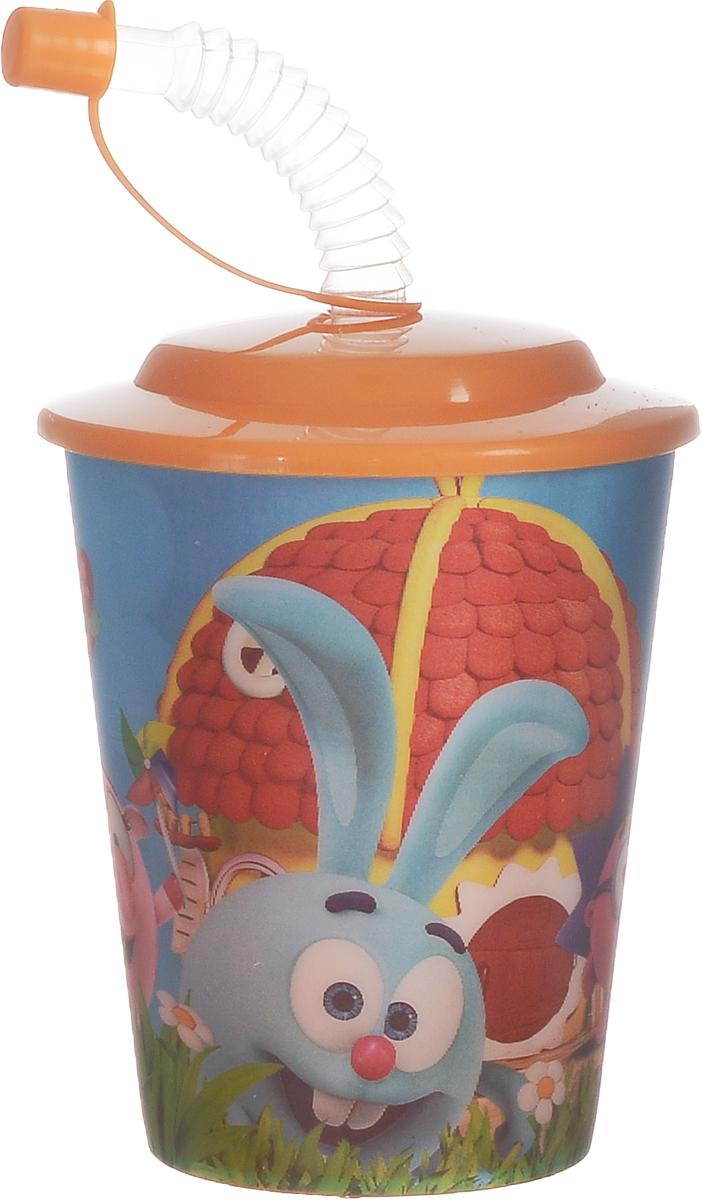 Смешарики Стакан детский с крышкой и трубочкой 400 мл disney стакан детский тачки 3 с крышкой и трубочкой 400 мл