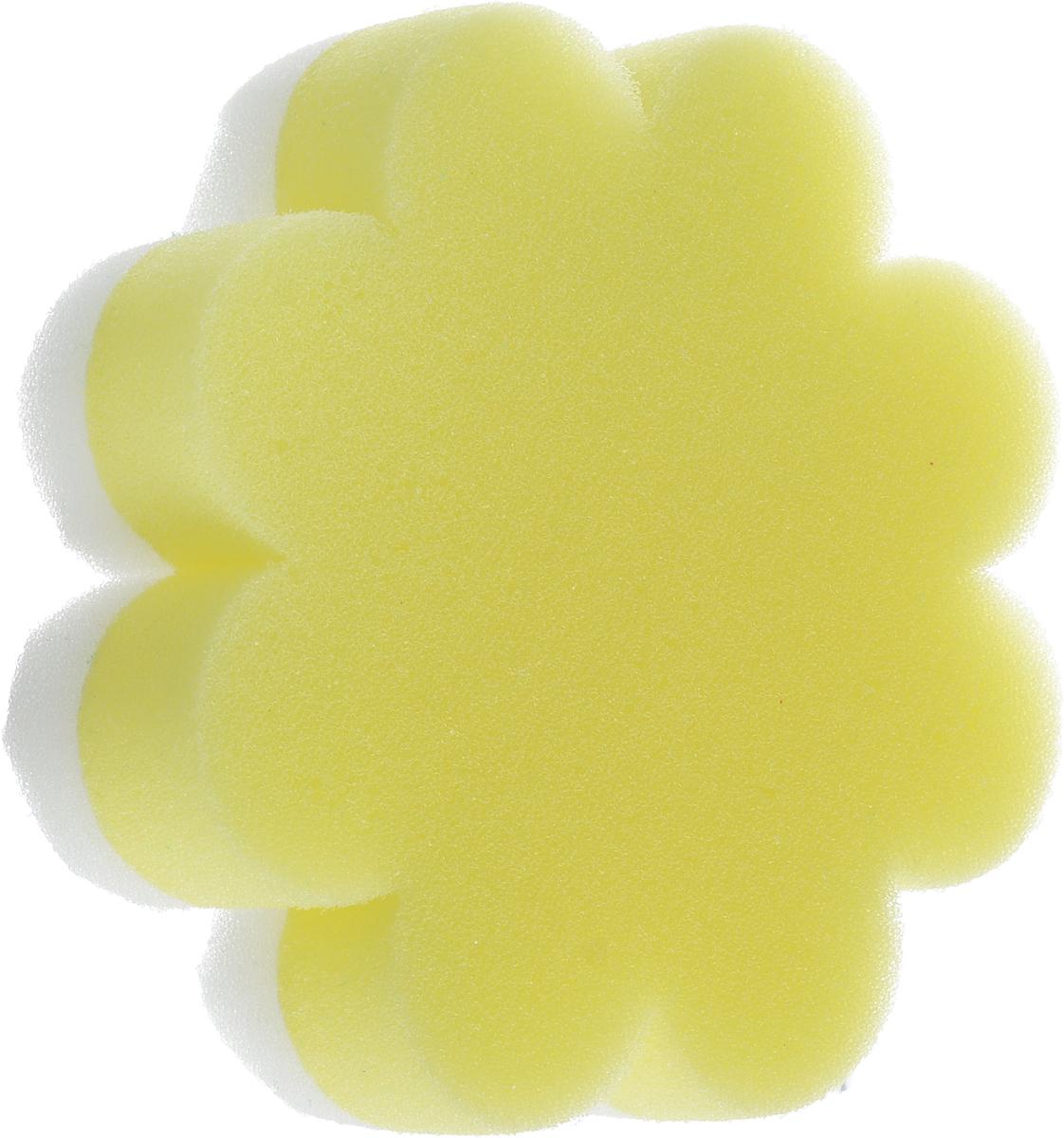 Курносики Мочалка с массажным слоем Цветок цвет желтый белый Курносики