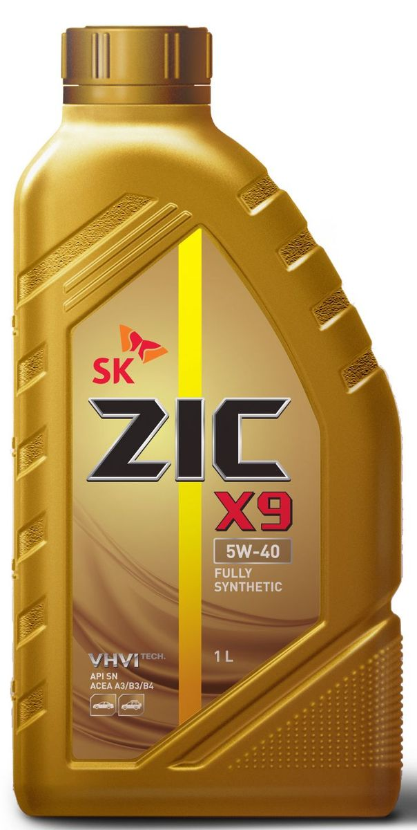 Масло моторное ZIC X9, синтетическое, класс вязкости 5W-40, API SN/CF, 1 л. 132613