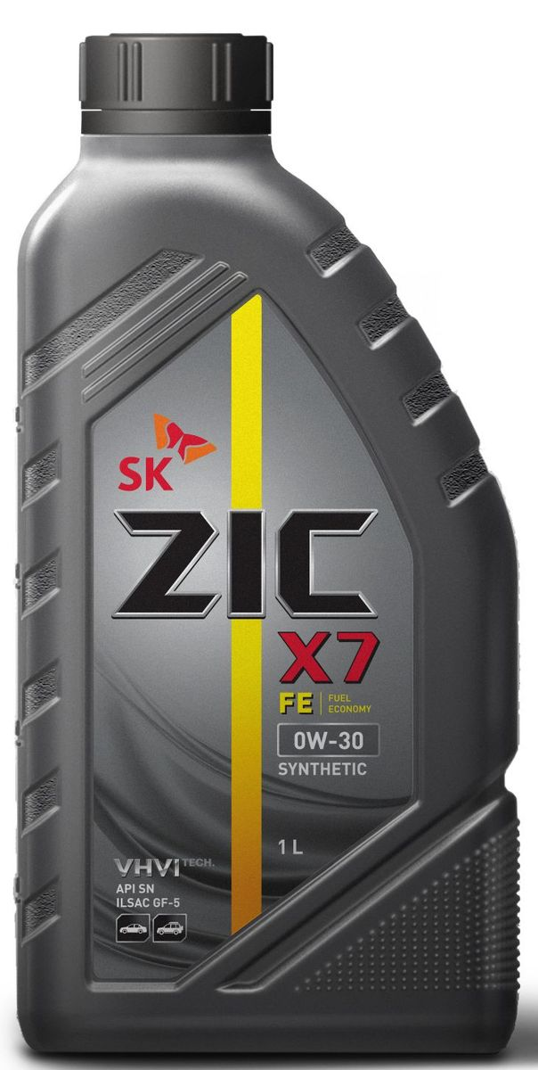 Масло моторное ZIC X7 FE, синтетическое, класс вязкости 0W-30, API SN, 1 л. 132616