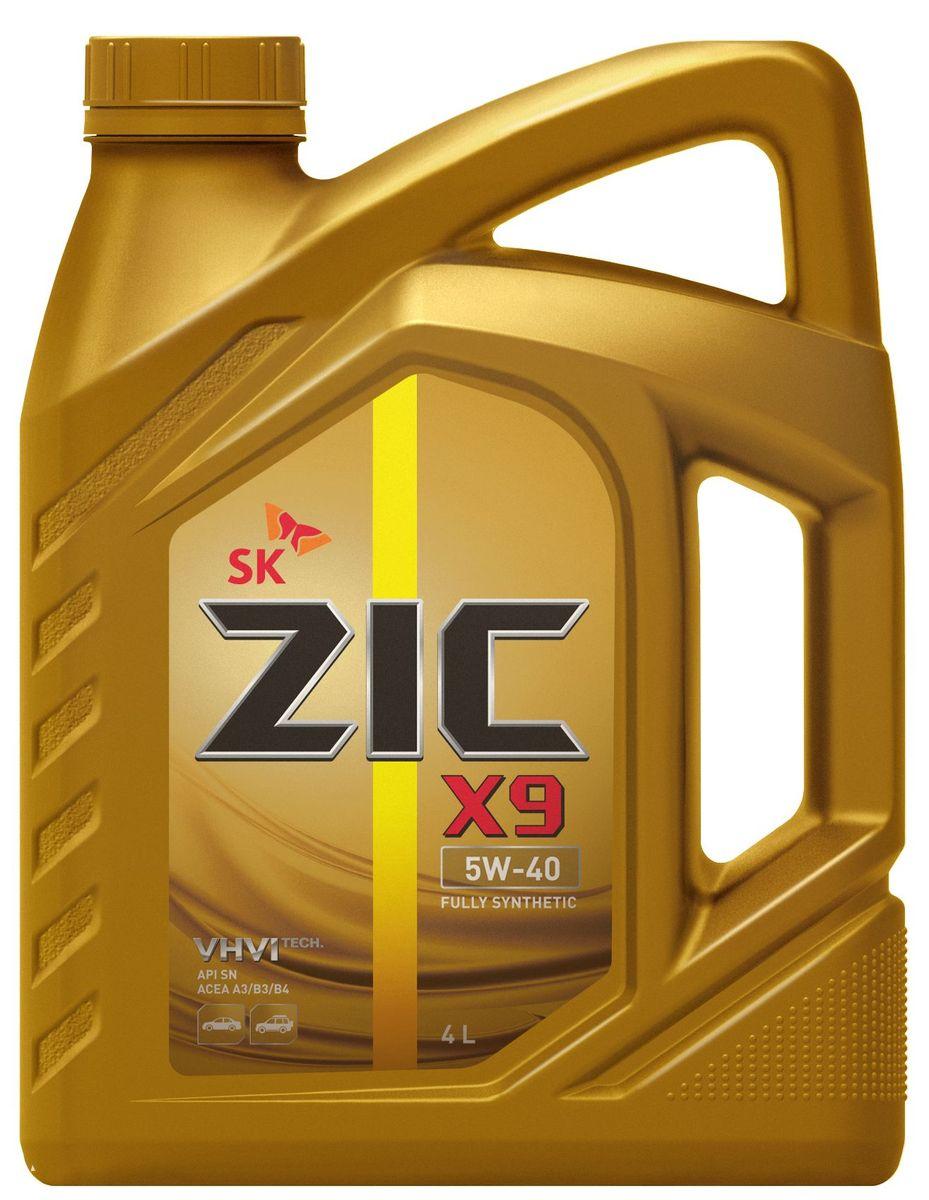 Масло моторное ZIC X9, синтетическое, класс вязкости 5W-40, API SN/CF, 4 л. 162613