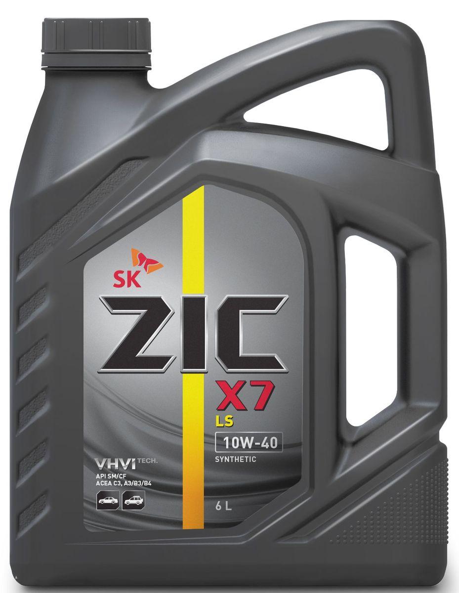 Масло моторное ZIC X7 LS, синтетическое, класс вязкости 10W-40, API SM/CF, 6 л. 172620