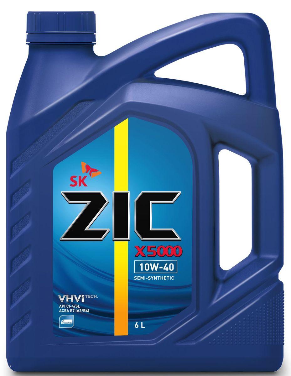 """Масло моторное ZIC """"X5000"""", полусинтетическое, класс вязкости 10W-40, 6 л. 172658"""