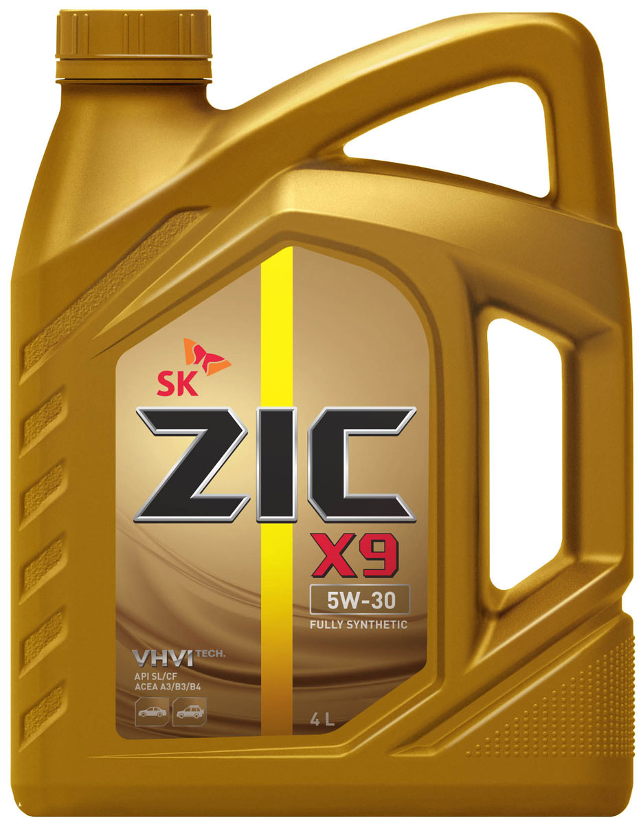 Масло моторное ZIC X9, синтетическое, класс вязкости 5W-30, API SL/CF, 4 л. 162614