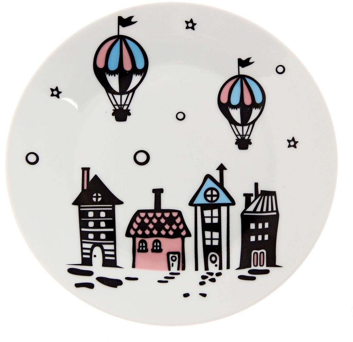 Тарелка мелкая Сотвори чудо Воздушный город, диаметр 20 см тарелка мелкая сотвори чудо цветочный мишка диаметр 20 см