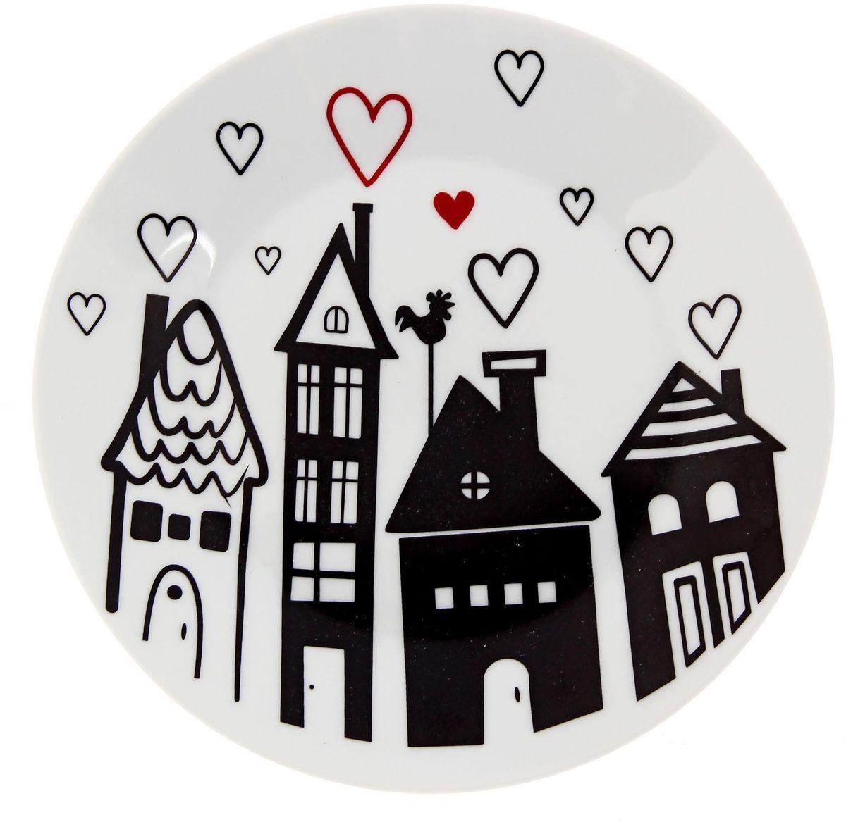 Тарелка мелкая Сотвори чудо Город любви, диаметр 20 см тарелка мелкая сотвори чудо бананы диаметр 20 см