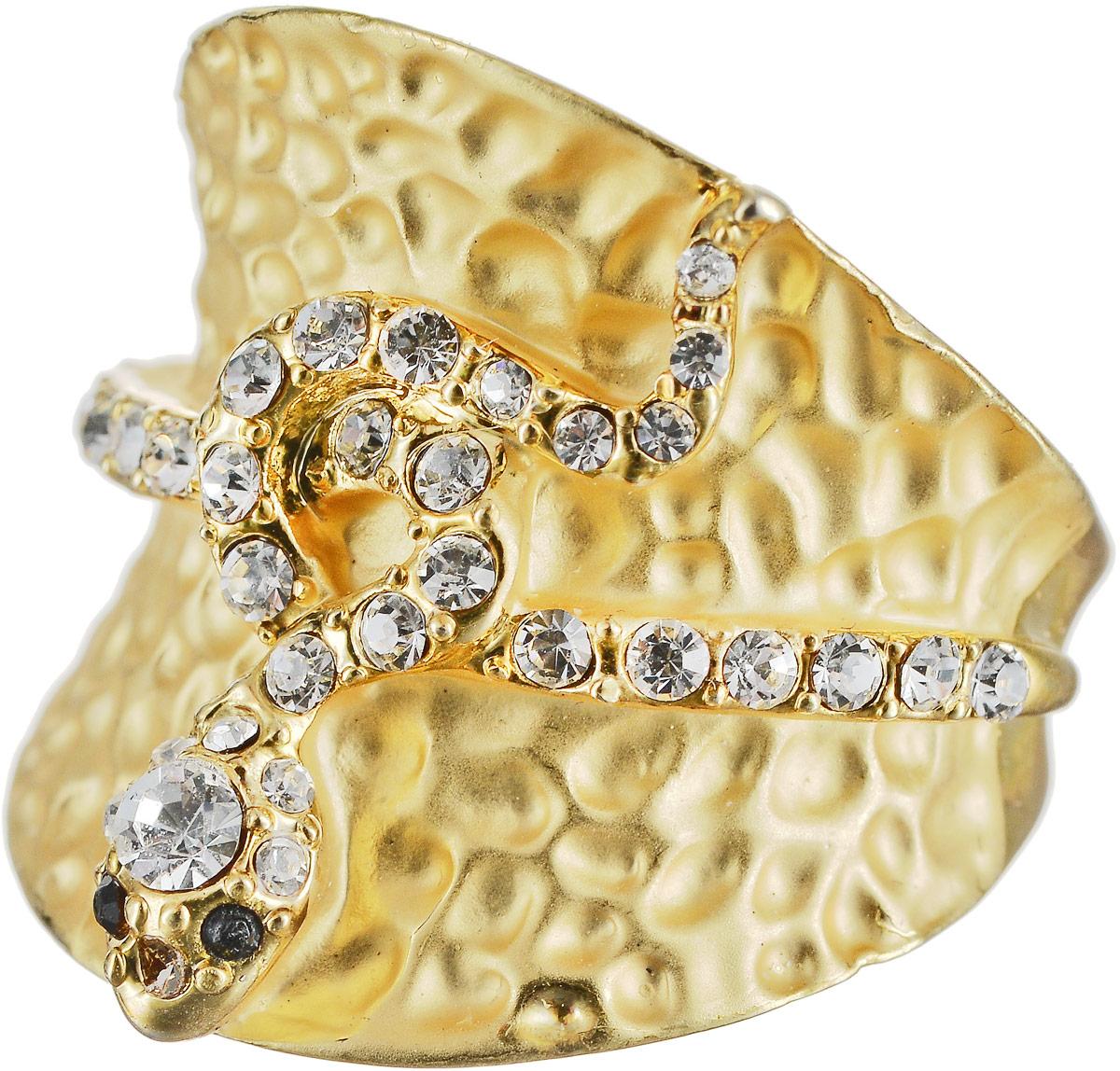 Кольцо Art-Silver, цвет: золотой. М341-540. Размер 17,5 серьги art silver цвет золотой м5078 405