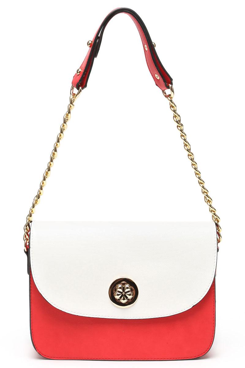 Сумка кросс-боди женская DDA, цвет: красный, белый. CR-3005 бордовая сумка из экокожи