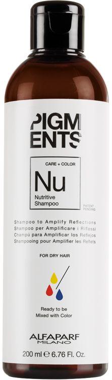 Alfaparf Pigments Nutritive Shampoo Шампунь питающий для сухих волос, 200 мл