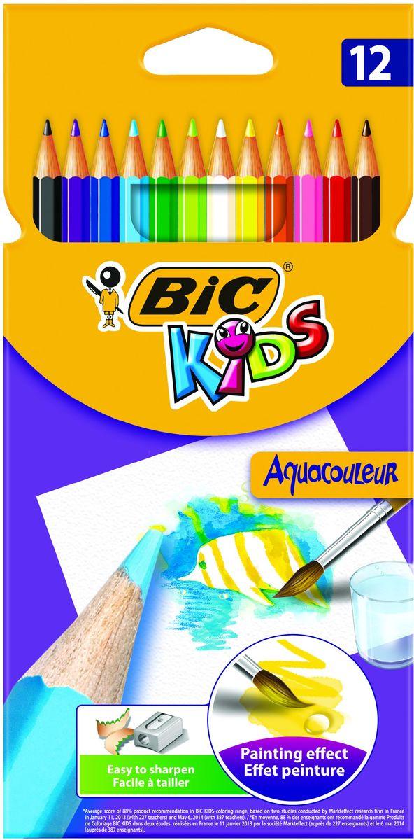 Bic Набор цветных карандашей Aquacouleur 12 цветов карандаши bic kids