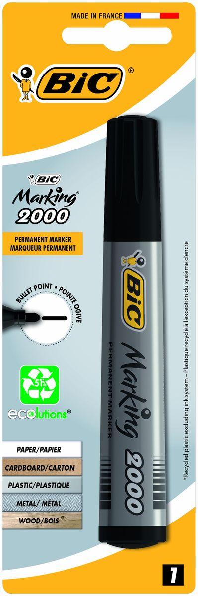 Bic Маркер перманентный Marking 2000 цвет черный calligrata маркер перманентный 1104 цвет красный