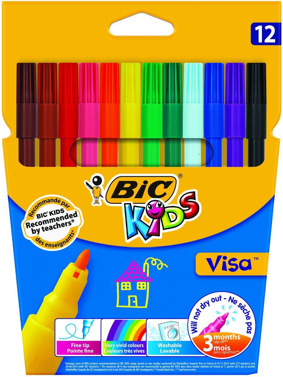 Bic Фломастеры Visa 12 цветов фломастеры bic kids colour