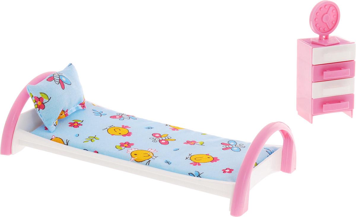 Форма Кровать с тумбочкой для кукол Цыплята цвет голубой цена в Москве и Питере