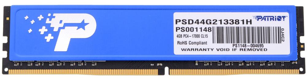 Patriot DDR4 DIMM 4Gb 2133МГц модуль оперативной памяти (PSD44G213381H)