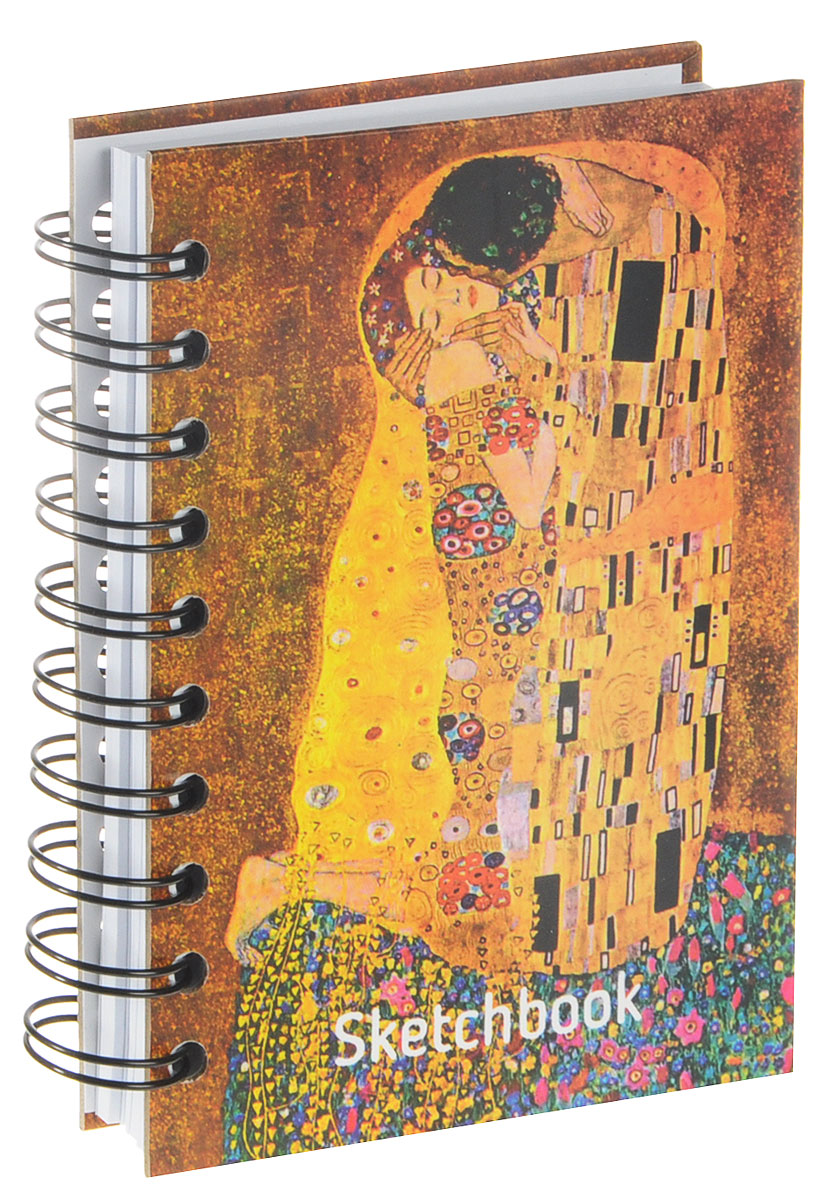 Скетчбук Климт. Поцелуй - 01696 ф. А6 цена