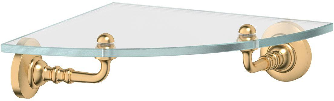"""Полка для ванной 3SC """"Stilmar"""", цвет: матовое золото. STI 318"""