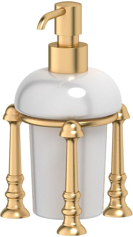 """Емкость для жидкого мыла 3SC """"Stilmar Un"""", настольная, цвет: матовое золото. STI 329"""
