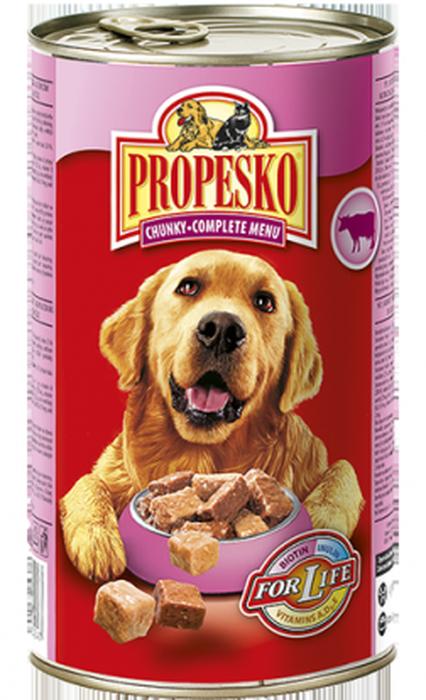 """Консервы для собак """"Propesko"""", с говядиной, курицей и дичью, 1,24 кг"""