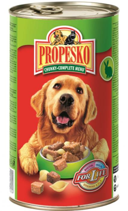 """Консервы для собак """"Propesko"""", с кроликом, говядиной и пастой, 1,24 кг"""