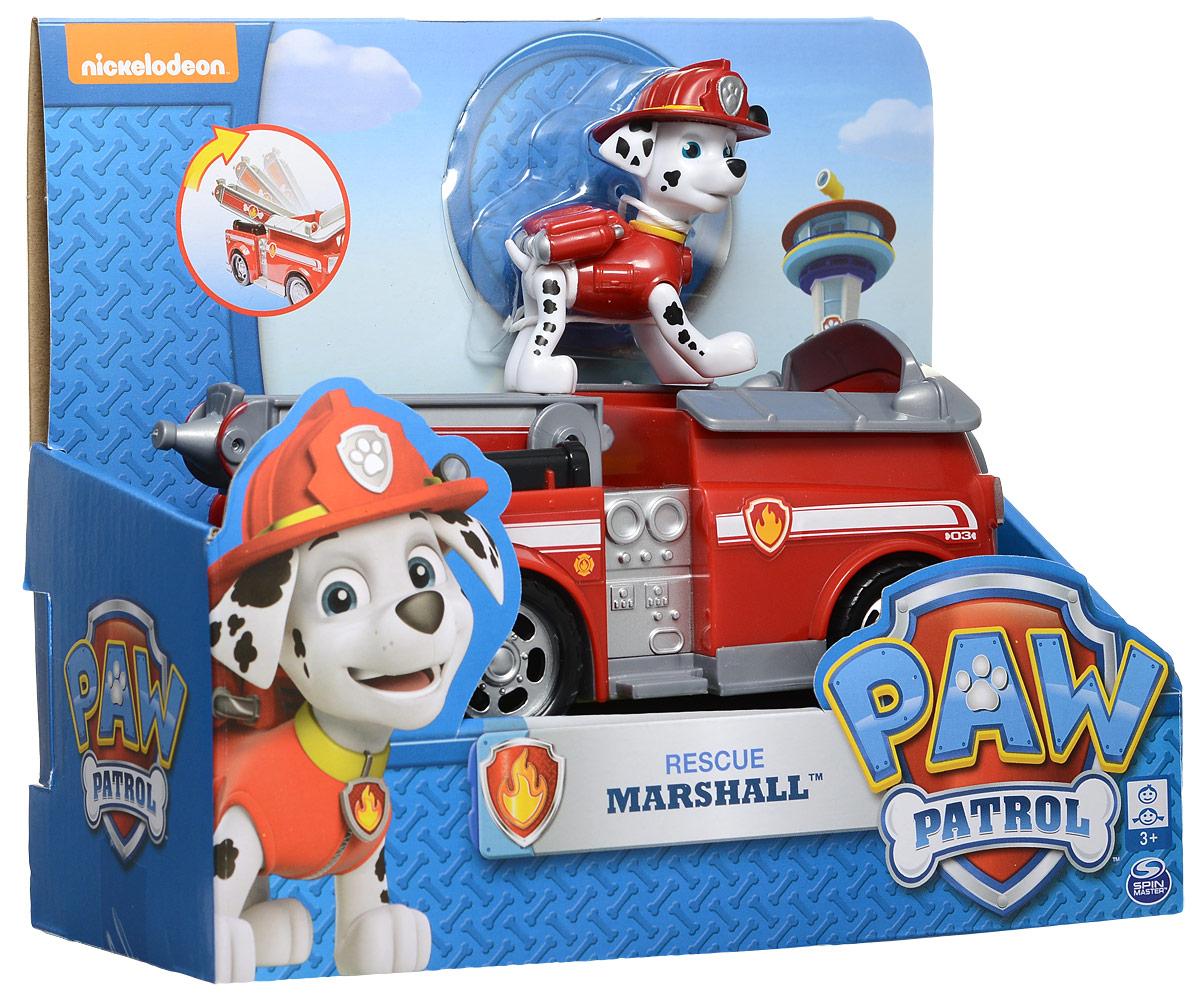 Paw Patrol Игровой набор Машинка спасателя и щенок Marshall