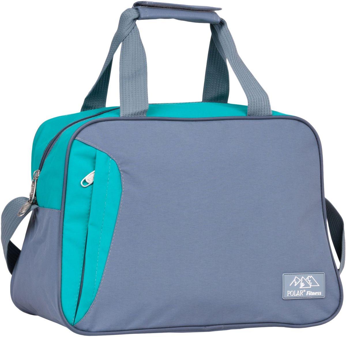 Сумка спортивная Polar, цвет: серый, бирюзовый, 30 л. П7071 сумка спортивная easy camp denver denim 30 л