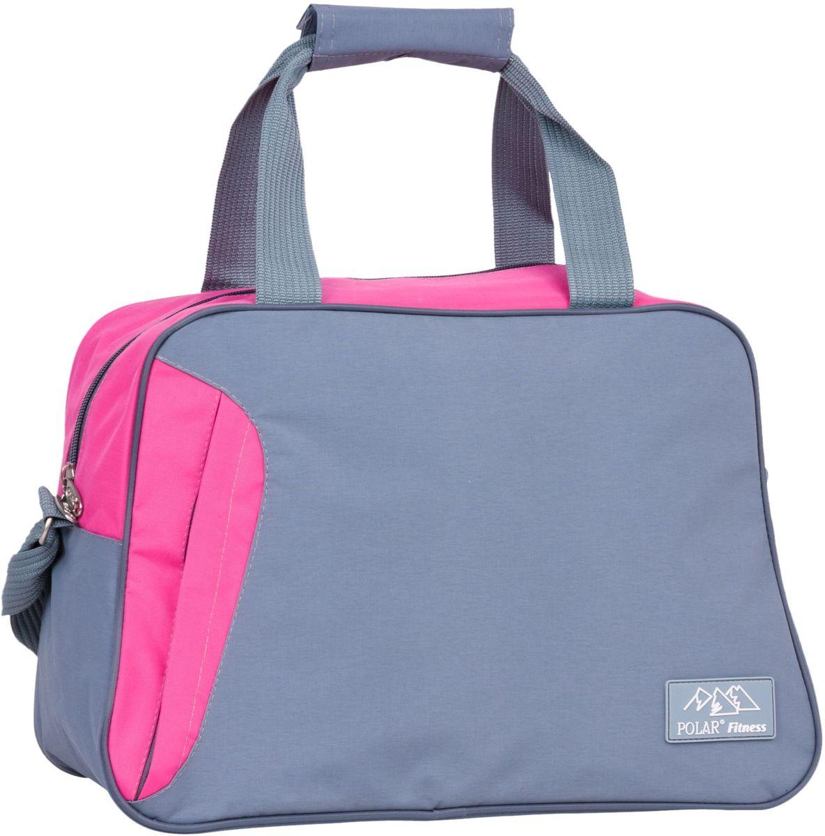 Сумка спортивная Polar, цвет: серый, розовый, 30 л. П7071 сумка спортивная easy camp denver denim 30 л