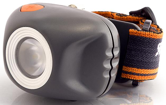 Фонарь налобный Яркий Луч, цвет: серый, оранжевый. LH-270 фонарь яркий луч е1 206 поплавок обрезиненный водонепроницаемый корпус светодиод 1w на 2xaa