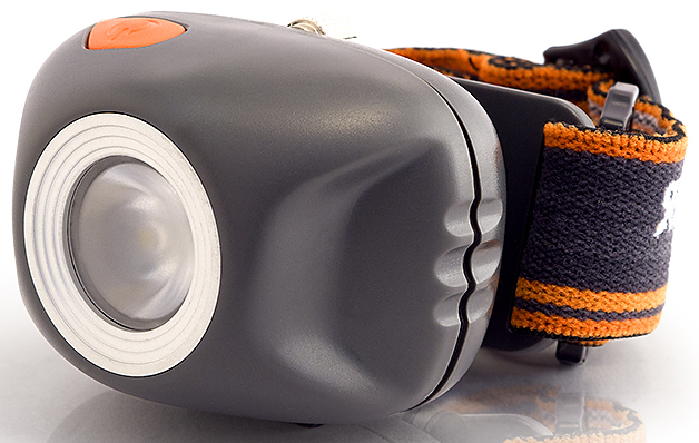 Фонарь налобный Яркий Луч, цвет: серый, оранжевый. LH-270 фонарь налобный яркий луч h 3 ma halo cree xp e 170лм 2 красных led 4 режима сенс вкл на 3xaaa