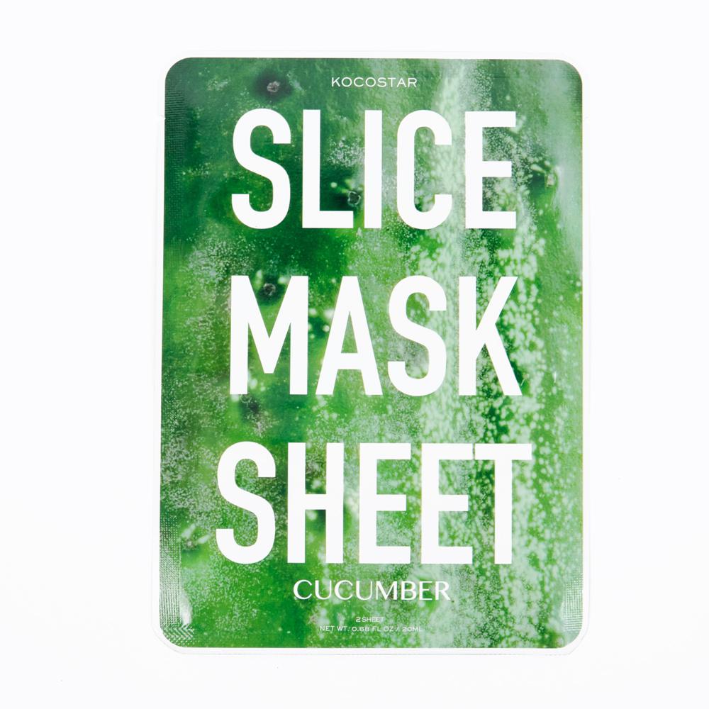 Kocostar Маска-слайс для лица Огурец, 20 мл / Slice Mask Sheet (Cucumber)00882CXНаполнить кожу энергией и свежестью, вдохнуть в нее новую жизнь - возможно! Оригинальная и очень эффективная маска в виде сочных тонких ломтиков огурца освежит, улучшит состояние кожи, придаст ей здоровый цвет и активизирует защитные свойства. Витамин С в составе маски снимает отечность, а гиалуроновая кислота обеспечит глубокое увлажнение. Экстракт Алоэ Вера восстановит раздраженную кожу за счет своих заживляющих и восстанавливающих свойств, а также поможет сохранить кожу молодой и здоровой. За счет своего мягкого воздействия маска-слайс подходит для любого типа кожи, даже чуствительной.