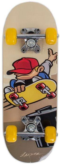 Скейтборд Larsen Junior 2, цвет: бежевый, серый, дека 51 см х 15 см beko rcnk 356k00 s