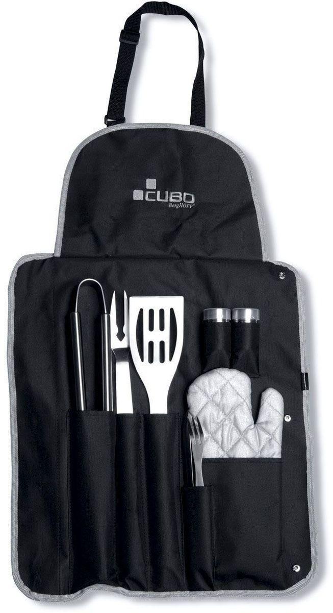 Набор для барбекю BergHOFF Cubo, цвет: металлик-черный, 9 предметов барбекю из камня