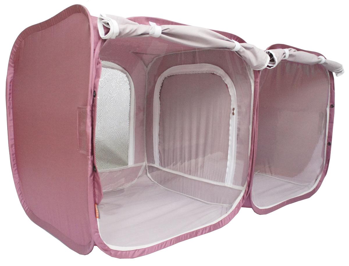 """Палатка для выставки животных """"Шоу-Петс"""", цвет: бордовый, 120 х 60 х 60 см. ПВЛ2Б"""