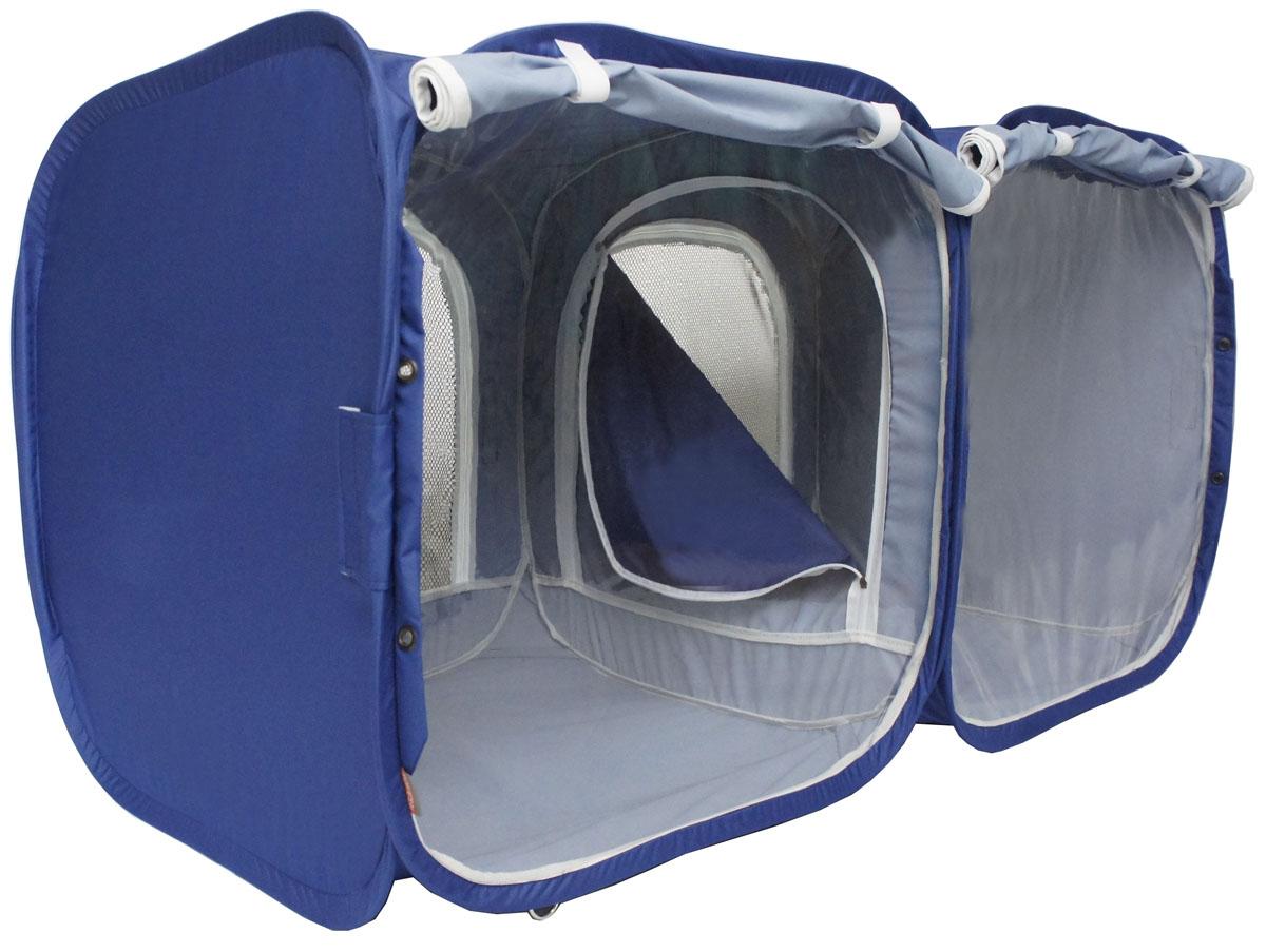"""Палатка для выставки животных """"Шоу-Петс"""", цвет: синий, 120 х 60 х 60 см. ПВЛ2К"""