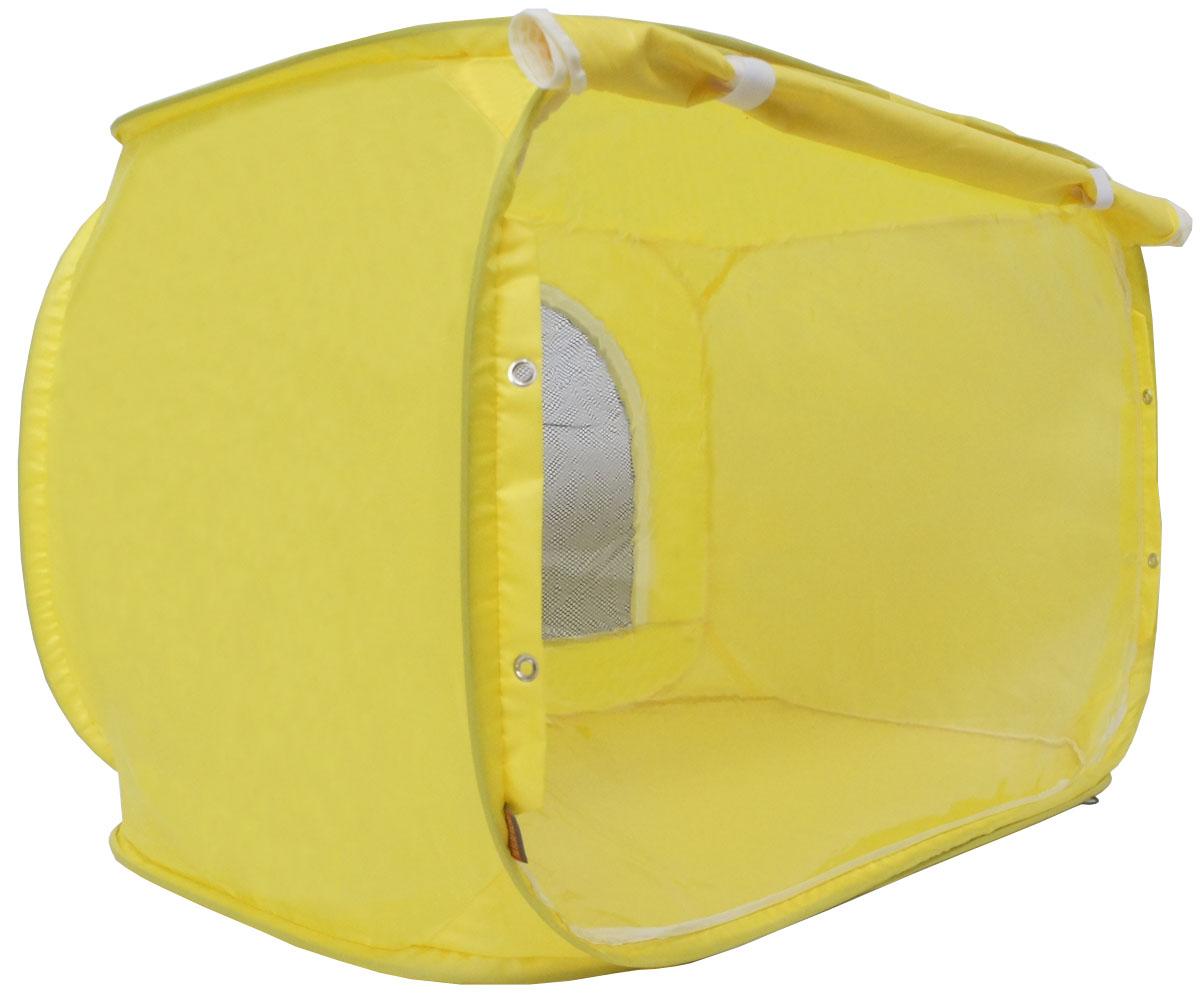 "Палатка для выставки животных ""Шоу-Петс"", цвет: желтый, 80 х 60 х 60 см. ПВЛ1.5Ж"