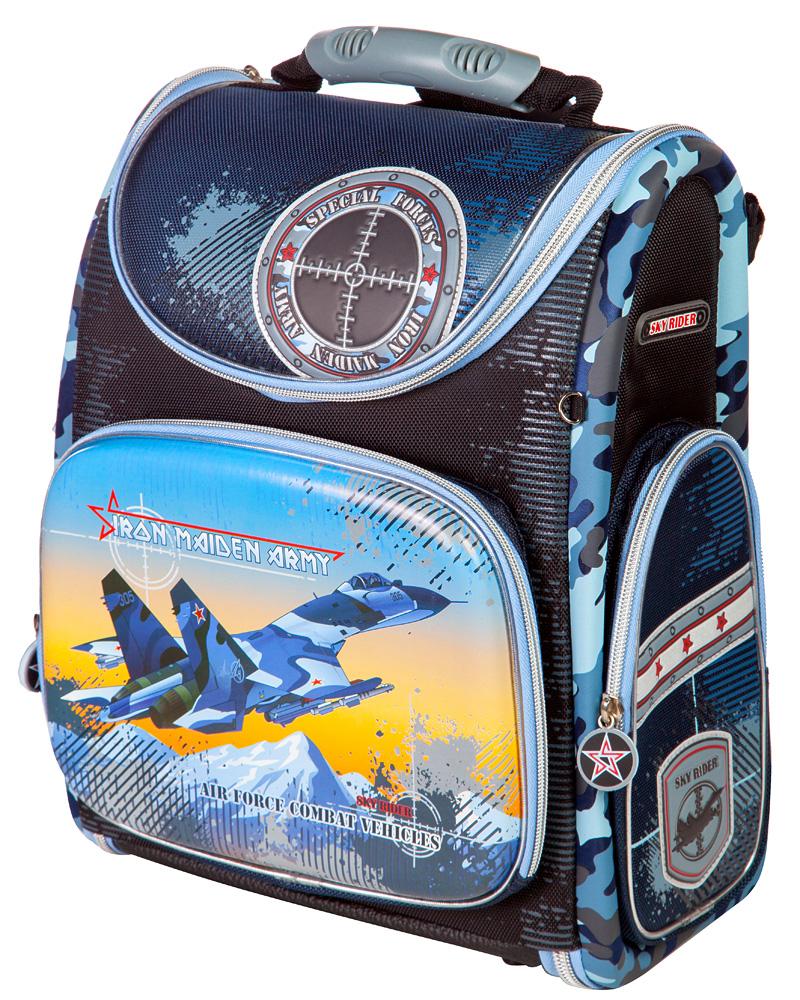 Ранец школьный Hummingbird Iron Maiden Army, цвет: тесно-синий, голубой. K75