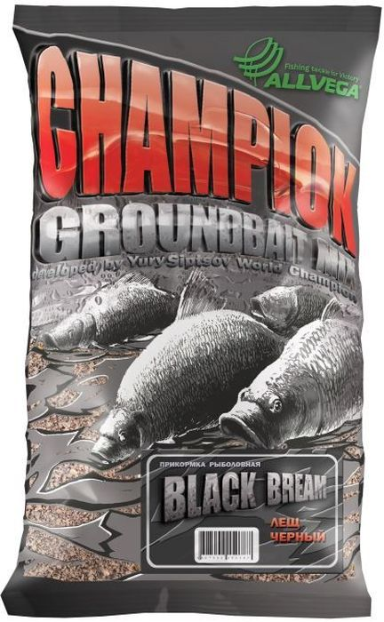 Прикормка Allvega Champion. Black Bream, 1 кг