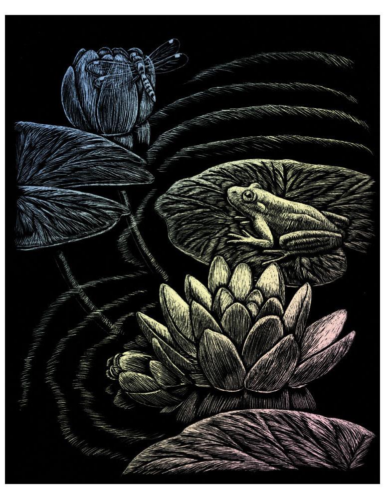Royal & Langnickel Гравюра с голографическим эффектом Лягушка