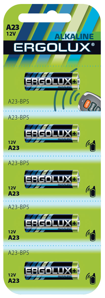 Батарейка Ergolux LR23A BL-5 батарейка аккумуляторная ergolux nimh тип аа 1500 mah