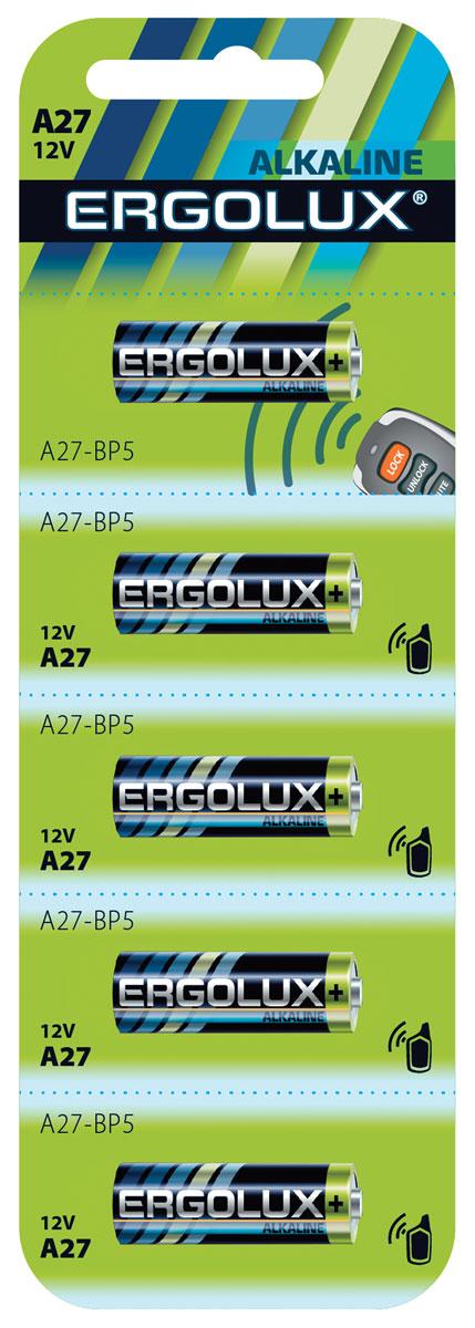 Батарейка Ergolux LR27A BL-5 батарейка ergolux 6lr61 alkaline bl 1