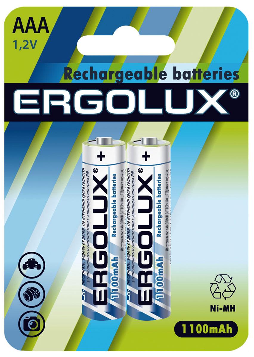 Аккумуляторная батарейка Ergolux AAA-1100mAh Ni-Mh BL-2 батарейка аккумуляторная ergolux nimh тип аа 1500 mah