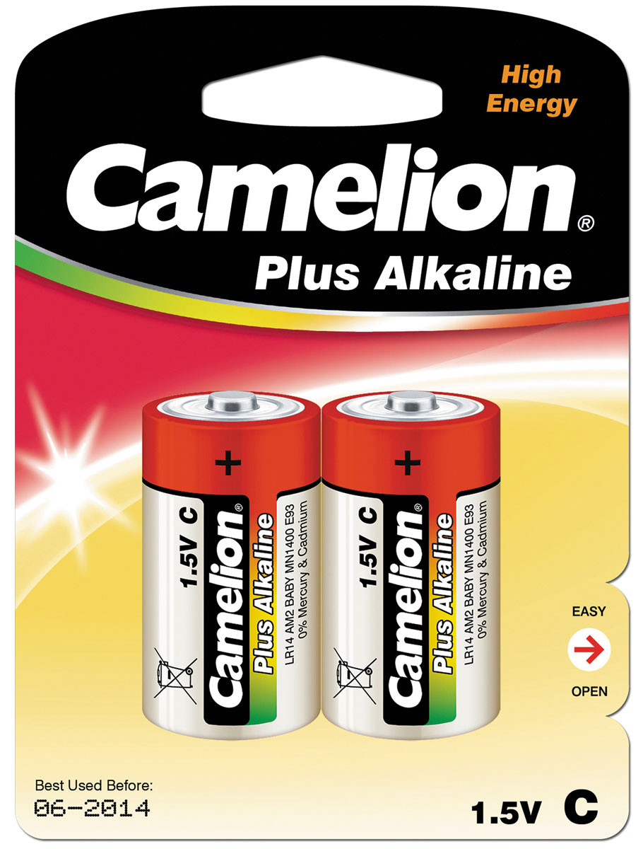 Батарейка Camelion LR14 Plus Alkaline BL-2 батарейка литиевая camelion cr123a bl 1