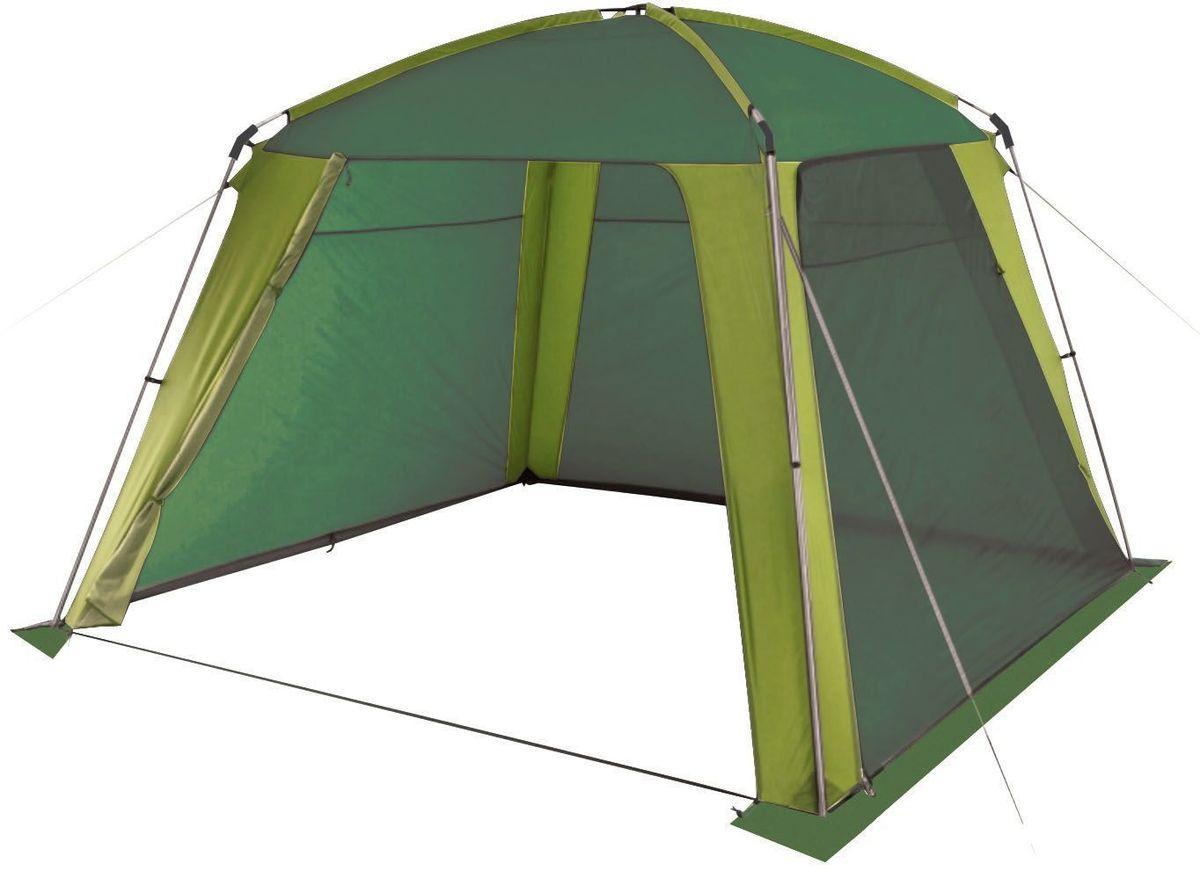 Шатер-тент TREK PLANET Rain Dome Green, цвет: зеленый, светло-зеленый, 320 х 320 х 210 см шатер тент trek planet event dome четырехугольный 425 х 425 х 235 см цвет синий голубой