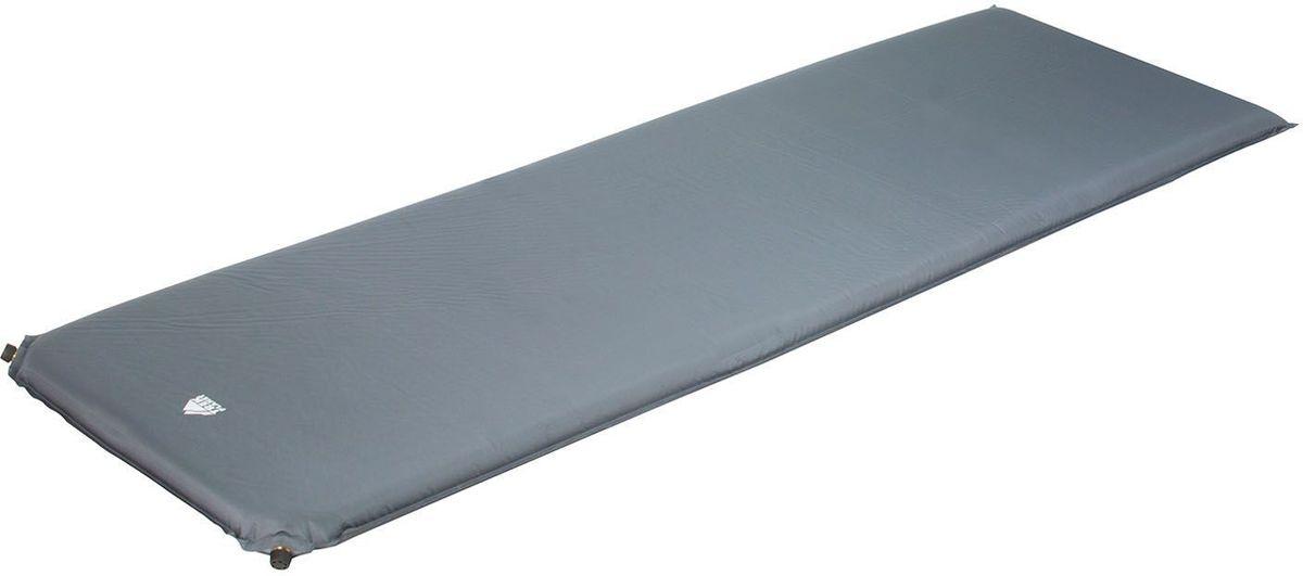 Коврик кемпинговый TREK PLANET Relax 50 самонадувающийся, цвет: серый, 198 х 63,5 х 5 см коврик сидение trek planet camping seat самонадувающийся цвет синий 40 х 30 х 3 см