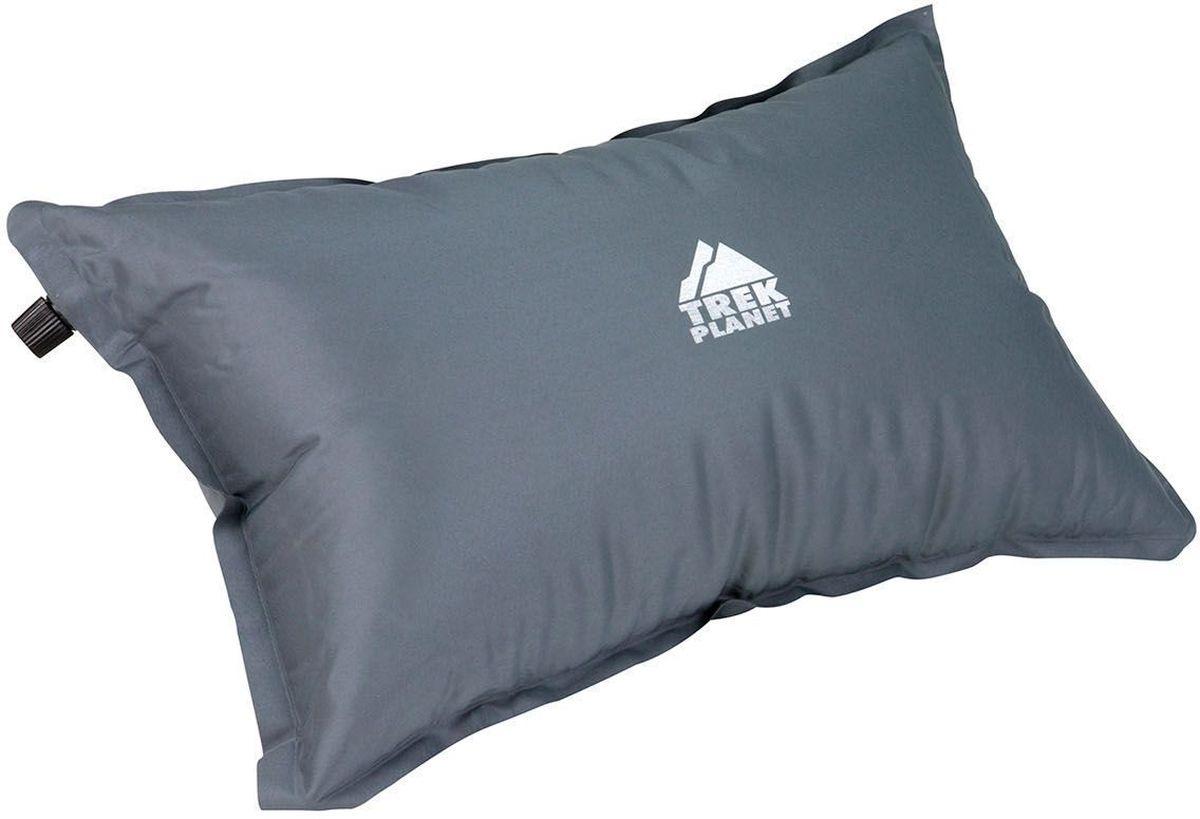 Подушка туристическая TREK PLANET Relax Pillow, самонадувающаяся, цвет: серый, 47 х 28 х 15 см
